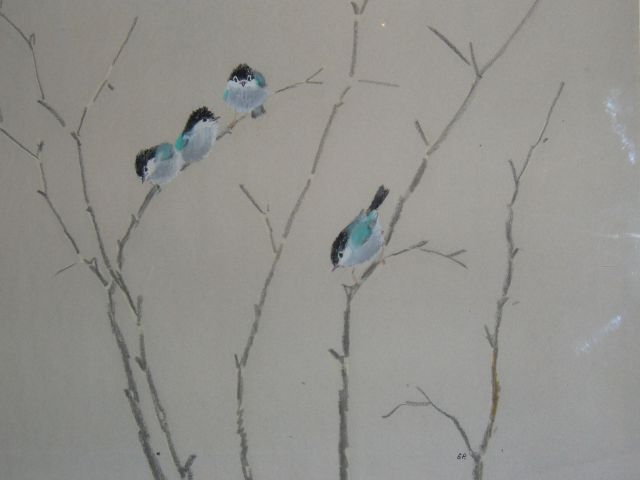 Tomtits (a series of Birds pastels)