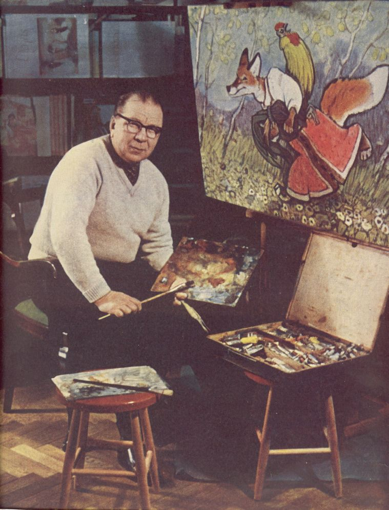 E.Rachev in his studio